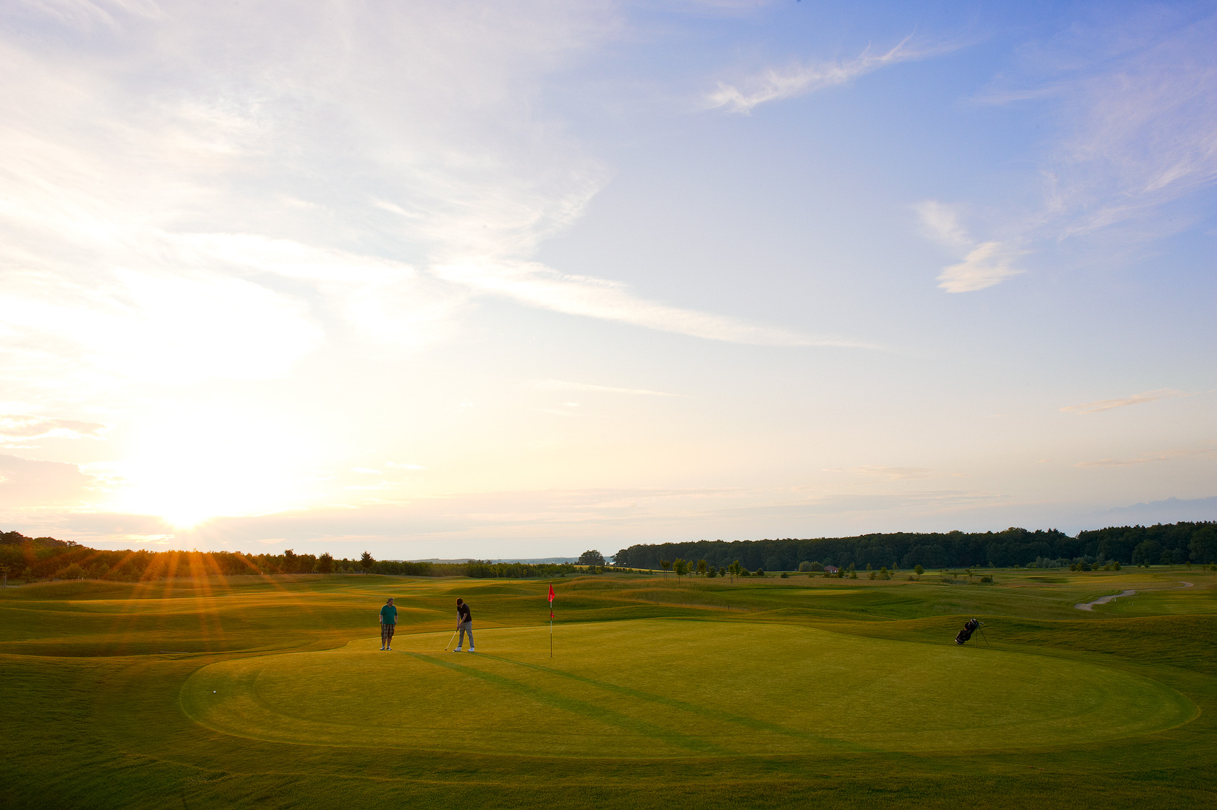 Evening golf at Fleesensee